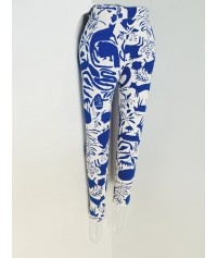 Legging Blue Animal spritz